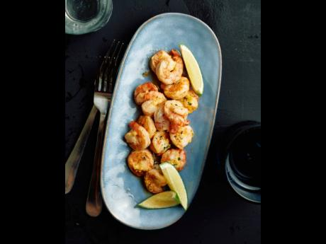 A must-have on the menu is some pan fried garlic shrimps or prawns.