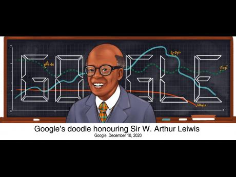Google's December 10, 2020 'Doodle' honouring Sir W. Arthur Lewis as an 'economist, professor and author, considered one of the pioneers in the field of modern development economics' is by Manchester-based guest artist Camilla Ru.