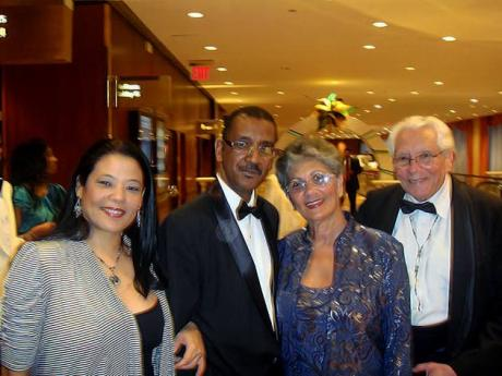 From left: Danielle Lee, Ambassador Raymond Wolfe, Sheila Lee and Ronnie Nasralla at the Jamaican Independence Celebration Foundation Inc, grand ball in New York in 2011.