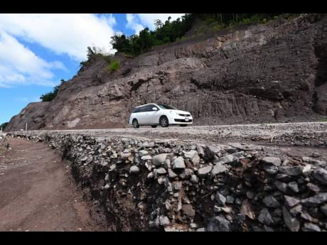 Retaining walls are yet to be constructed along sections of the slopes on the Agualta Vale to Broadgate strip of the Junction road in St Mary.