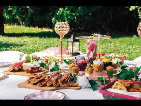 A closer look at the delectable picnic spread.