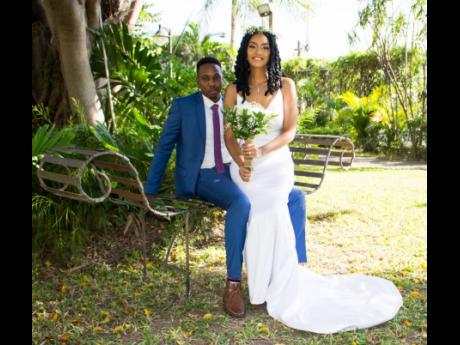Meet the Allens: Keneil and Jhané met after Jhané sent him a one-letter message on Facebook. That 'Hello' was the start of something much more for the couple, who wed in December at The Jamaica Pegasus hotel.