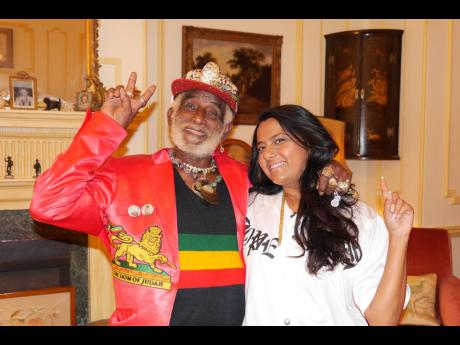 Master reggae and dub producer Lee 'Scratch' Perry and Reshma B, producer of 'Studio 17: The Lost Reggae Tape'. Perry is one of many reggae luminaries featured in the documentary.