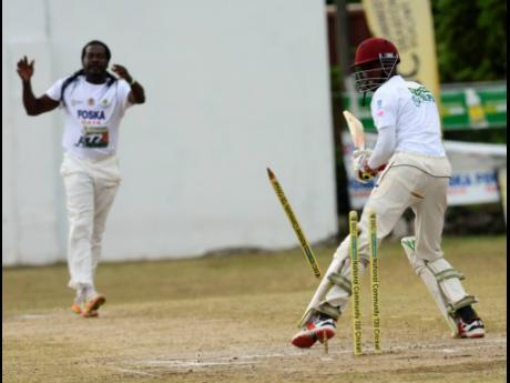 Action from the 2019 SDC Community T20 Cricket Competition in Springfield, St Thomas.
