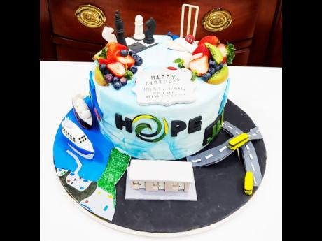 The  birthday  cake Mumzel's Gourmet Pastries created for Prime Minister Andrew Holness.