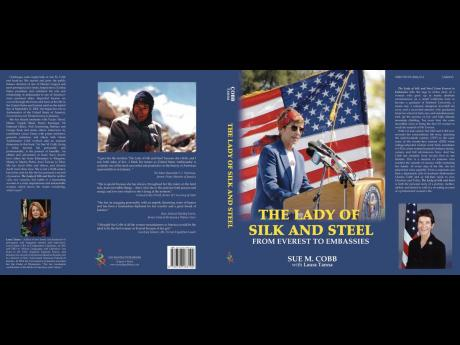 Cover of 'The Lady of Silk and Steel From Everest to Embassies'.