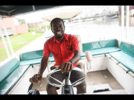 Terron Brown, a boat captain employed to J. Charles Swaby's Black River Safari