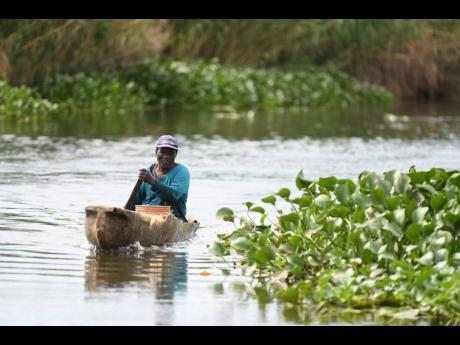Cleveland Watson makes his living by fishing in the Black River.