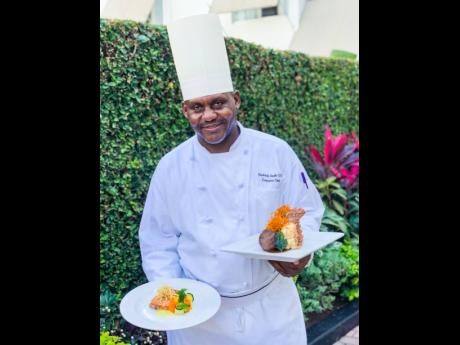 Fredrick Gayle, executive chef for The Courtleigh Hospitality Group shows off a few of the dishes planned for Knutsford's Valentine's dinner.