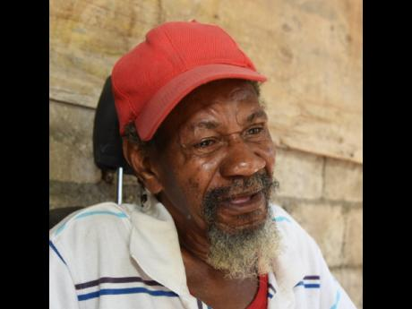 Edmond Campbell is overcome with grief as he recalls how he heard about the death of 51-year-old Winston McKenzie, his nephew. McKenzie was shot and killed on January 29 in Bull Bay, St Andrew.