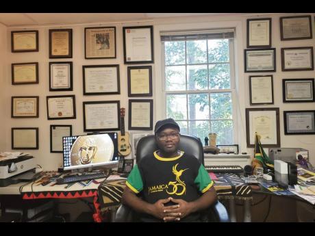 Dr Fuller at his home lab in Atlanta.