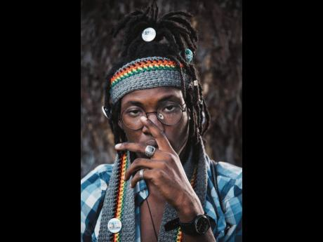 Singer and songwriter Blvk H3ro readily admits that his conversation-starting hairstyle was inspired by Steel Pulse's David Hines.