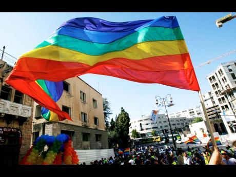 The gay-rights rainbow flag.