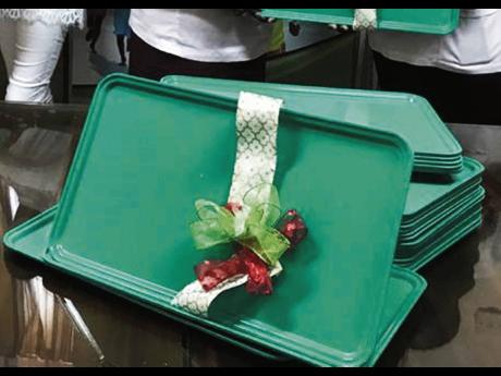 Some of the trays donated by the Henrys.