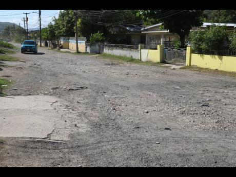 Bybrook Avenue, which intersects with Gordon Terrace in New Haven, St Andrew, is desperately in need of resurfacing.