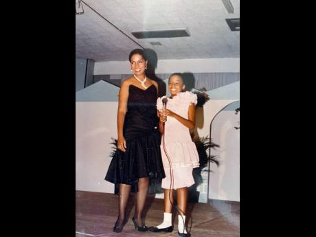 Alaine and her mother, Myrna Laughton, perform at The Jamaica Pegasus hotel at a concert named Celebrities and Their Children. The elder Laughton said she knew at an early age that her daughter would be a performer.