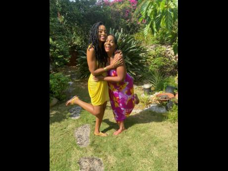 More important than having millions of subscribers, mother and daughter said their biggest hope for the channel is that it will make people happy. INSET: The duo perform at a Women's Day event at The Jamaica Pegasus hotel.