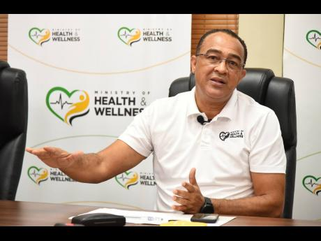 Minister of Health and Wellness Dr Christopher Tufton.
