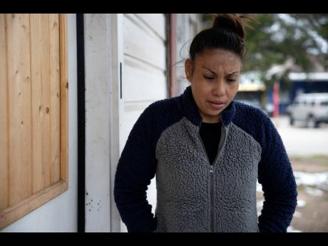In this February 18 photograph, Maria Pineda speaks about her son's future plans in Conroe, Texas. Pineda's son, Cristian Pavon, 11, died of suspected hypothermia as temperatures plummeted into the teens on Tuesday, February 16.