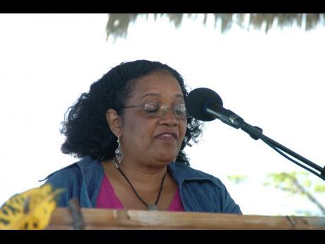 Jamaican poet Lorna Goodison took the stage at the 2008 Calabash International Literary Festival, held in Treasure Beach, St Elizabeth.