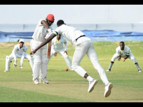Action from the Jamaica Cricket Association Senior Cup final at Sabina Park on Saturday, April 13, 2019.