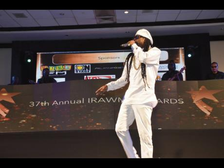 Beenie Man thrills the audience at the 37th staging of IRAWMA held at The Jamaica Pegasus hotel.