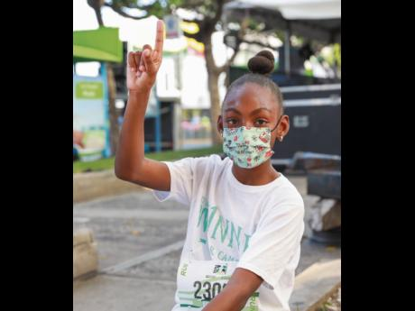 The youngest race participant, nine-year-old Dai'Anna Brown, may not have won the race, but she is a true champion.