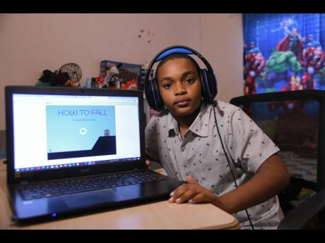 Eleven-year-old Dominic Darby shows off the game he created to conquer hundreds of rivals across 70 countries in a coding competition sponsored by XPRIZE.