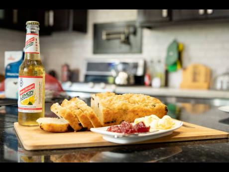 Allow the Red Stripe Lemon Beer and Craisins Bread to cool before slicing into it.