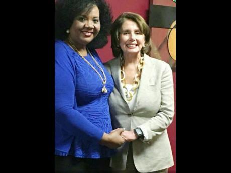 The Rev Dr Karen Green (left) and House Speaker Nancy Pelosi.