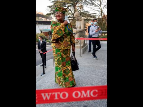 New Director General of the World Trade Organization, Ngozi Okonjo-Iweala, arrives at the WTO headquarters to takes office in Geneva, Switzerland, on Monday, March 1.