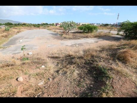 A section of No Man's Land in southern St Andrew, where the Police Plaza is to be built.