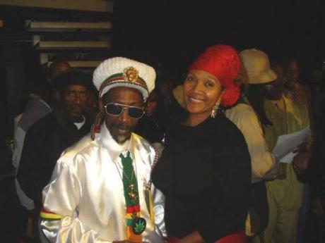 Bunny Wailer and childhood friend Marcia Griffiths. Wailer wrote 'Electric Boogie', the single which to this day remains one of Griffiths' most notable hits.