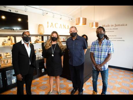 From left: Norman Dunn, state minister in the Ministry of Industry, Investment and Commerce; Audley Shaw, minister of industry, investment and commerce; Alexandra Chong, CEO and co-founder, Jacana and Jesse Royal, Jacana brand strategist and reggae star at
