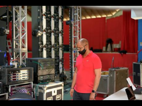 Martin Lewis of the Jamaica Jazz and Blues Festival does final checks in preparation for the first virtual staging of the festival.