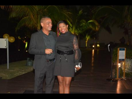 RIGHT: Simon Casserly and his wife, Kerry-Ann, arrive at his 50th birthday celebration at the Royalton Negril recently.