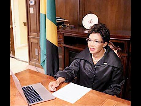 Jamaica's Ambassador to the United States addresses a Black History Month forum on February 28.