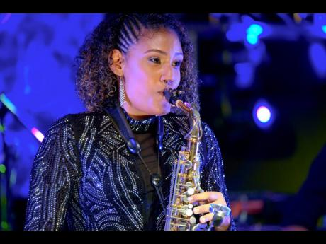 Flautist Keturah Grey also showed her skills on the sax.