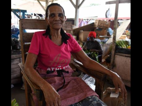 Annie Ivey, 78, has been selling in the Cross Roads Market for more than 20 years. Like thousands of women, she has no pension plan.