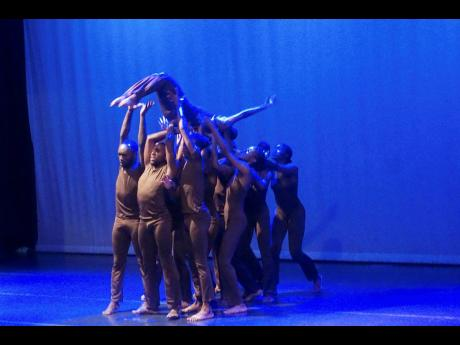 Movements Dance Company perform 'Father, Father', choreographed by Christopher Higgins.