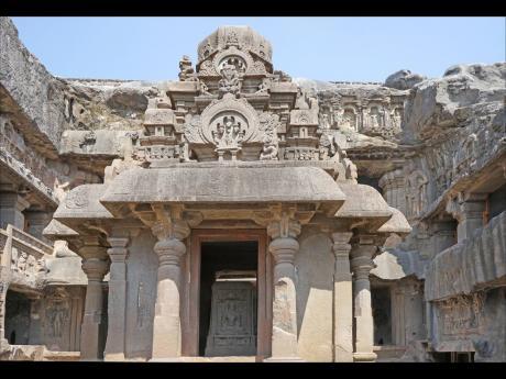 The Indra Sabha, a part of the Jain caves at Ellora