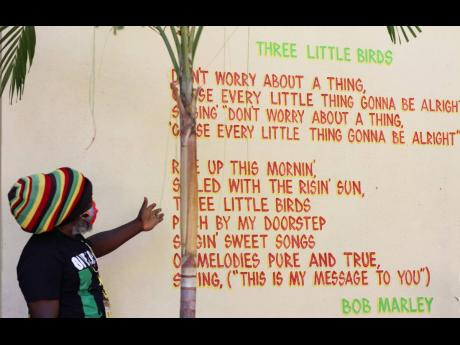 The lyrics and music of Bob Marley live on, and they are also written all over the walls of the museum.