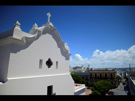 The San José Church stands in San Juan, Puerto Rico. The second oldest Spanish church in the Americas is reopening following a massive reconstruction that took nearly two decades to complete.