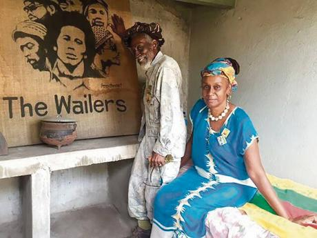 Neville 'Bunny Wailer' Livingston, co-founder of the Wailers, and his  manager, Maxine Stowe.