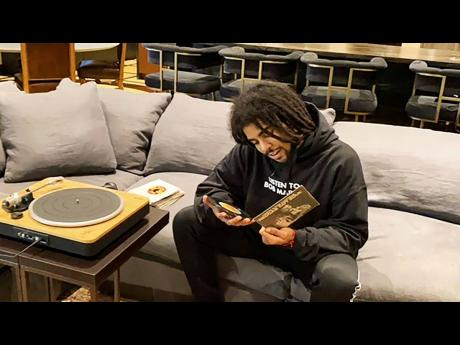 Skip Marley on the set of 'Let's Take It Higher'. The mini-documentary was shot at Marley's Miami home.