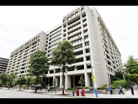 The International Monetary Fund headquarters building in Washington.