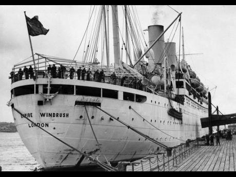 SS Empire Windrush, which shipped migrant workers from the West Indies to England. Women who migrated outside of the Windrush generation often moved with little or no financial support and for many, in contravention of legal frameworks established to keep