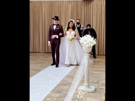 left: King Yellowman is still beaming with pride as he remembers walking his daughter Kareema down the aisle.