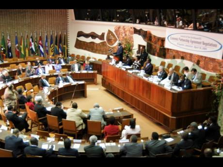 This 2004 photo shows the CARIFORUM-EU Economic Partnership Agreement (EPA) negotiations launched in Kingston, Jamaica. On Thursday, March 18, the 10th UK-Caribbean Forum was held. It was attended by ministers from the Caribbean ACP Forum, including Domini