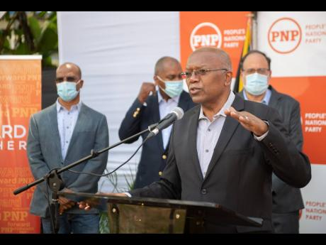 Opposition Spokesperson on Health Dr Morais Guy speaks at the post budget presentation press briefing held at Office of the Opposition Leader in St Andrew on Wednesday, March 17. Dr Guy said weekend curfews as counter-productive and is supporting a complet